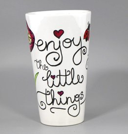 "Ceramic mug big ""Enjoy the little things"""