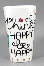 "Ceramic mug big ""Think happy"""