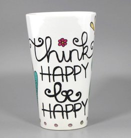 "Tasse groß ""Think happy"""