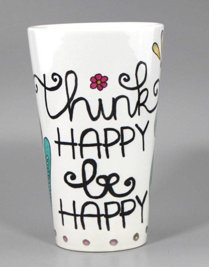 "Tasse groß ""Think happy"""
