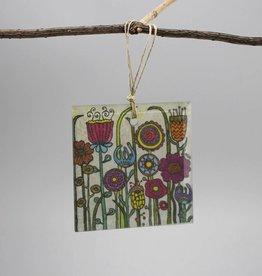 """Glass hanger """"Flowers I"""""""