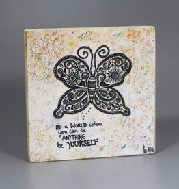 """Printing on wood S """"Be yourself"""""""