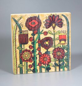 "Printing on wood S ""Flowers IV"""
