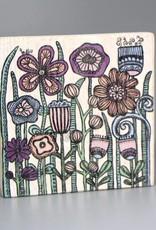 """Printing on wood S """"Flowers Pantone"""""""