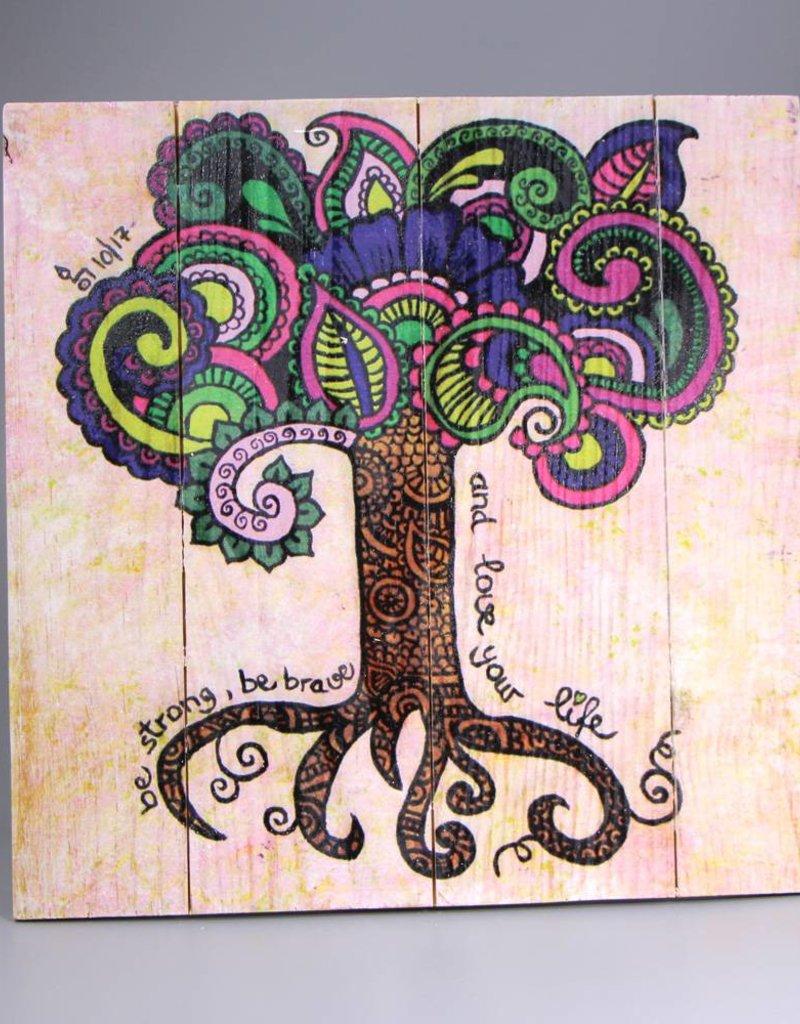 "Holzdruck M ""Lebensbaum"""