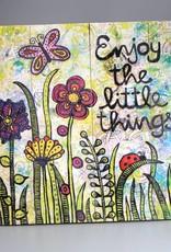 """Printings on wood M """"Enjoy the little things"""""""