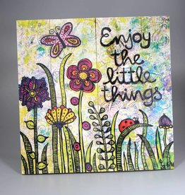 "Printings on wood M ""Enjoy the little things"""