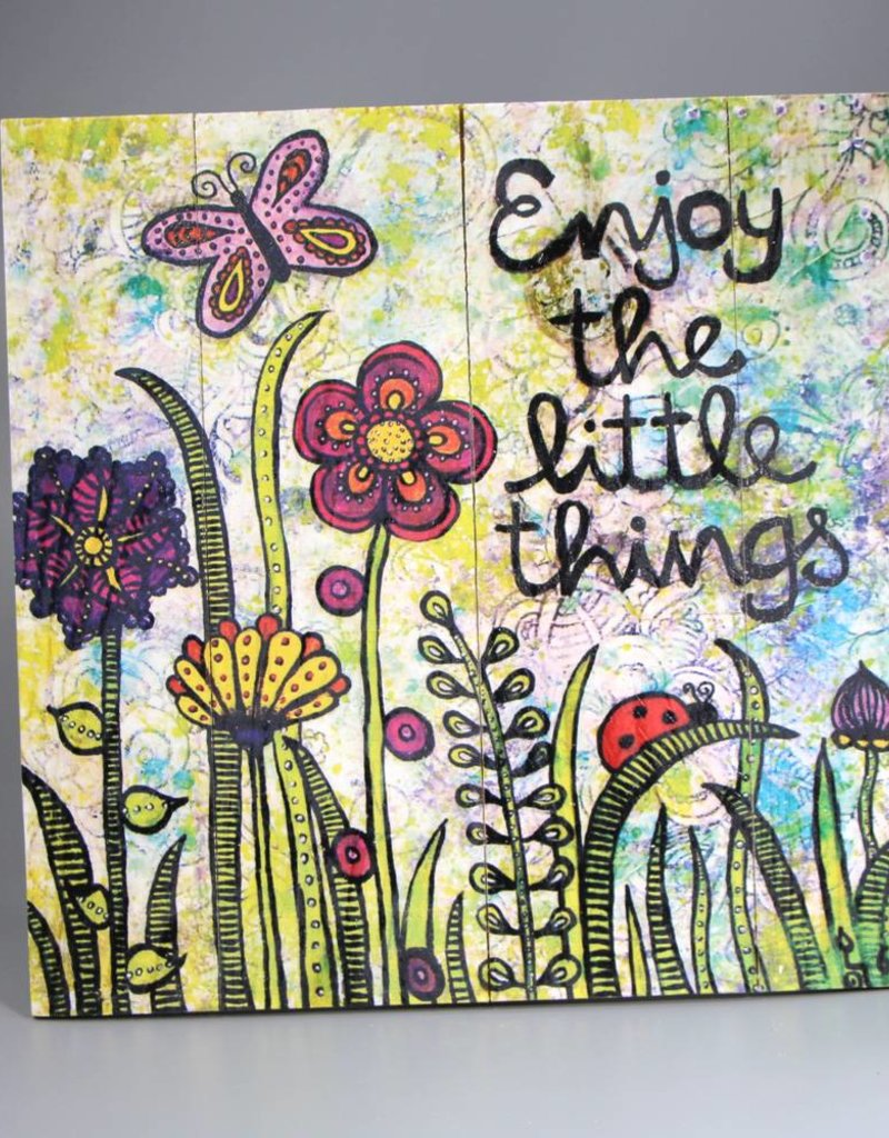 """Holzdruck M """"Enjoy the little things"""""""
