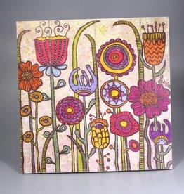 """Printings on wood M """"Flowers I"""""""