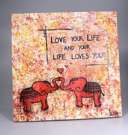 """Printings on wood M """"Love your Life"""""""