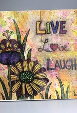 "Holzdruck M ""Live, Love, Laugh"""