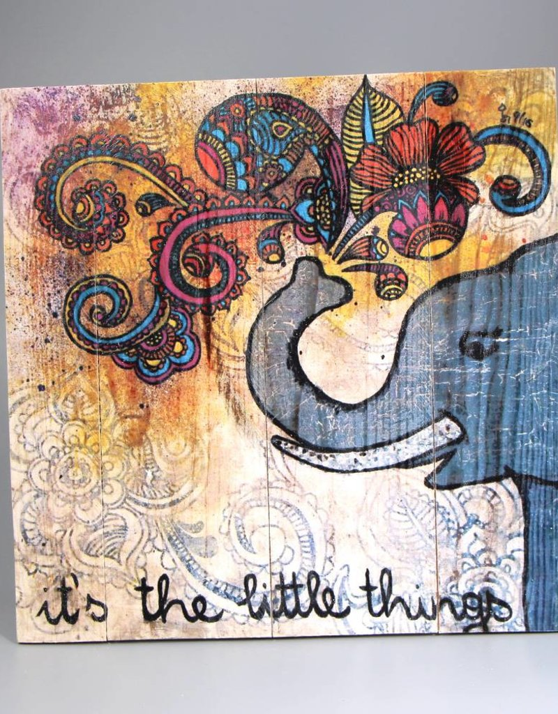 """Printing on wood  M """"It's the little things"""""""