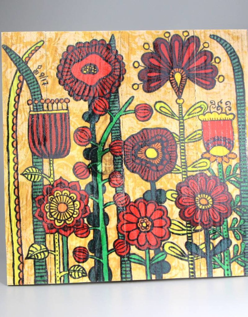 "Holzdruck L ""Flowers IV"""