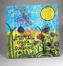 "Printing on wood L ""Sunshine"""