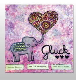 "Poster ""Glück"""