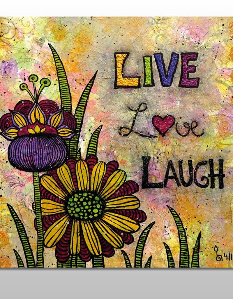 "Poster ""Live, Love, Laugh"""