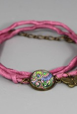Armband aus Seide - Lebensbaum