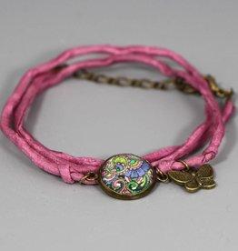 "Silk bracelet ""Lebensbaum"""