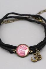 Armband aus Seide - Mehndi Magenta
