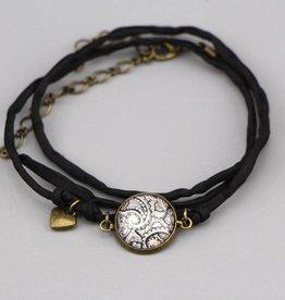 """Silk  bracelet """"Mehndi schwarz"""""""
