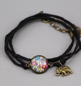 "Silk  bracelet ""Blumenwiese"""
