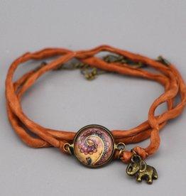 "Silk  bracelet ""Schnörkel in ocker"""