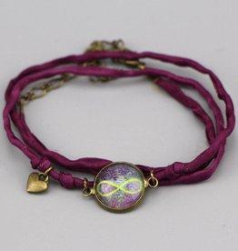 "Silk  bracelet ""Infinity"""