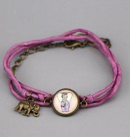 """Silk  bracelet """"Glückselefant"""""""