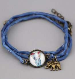 "Silk  bracelet ""Hippiefant"""