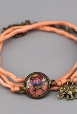 """Armband aus Seide - Blume aus """"It's the little things"""""""