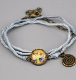 Seidenarmband be happy