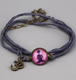 "Silk  bracelet ""Buddha"""