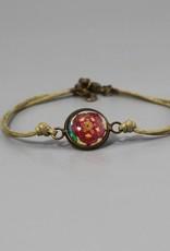 "Cotton bracelet ""Blume beige"""
