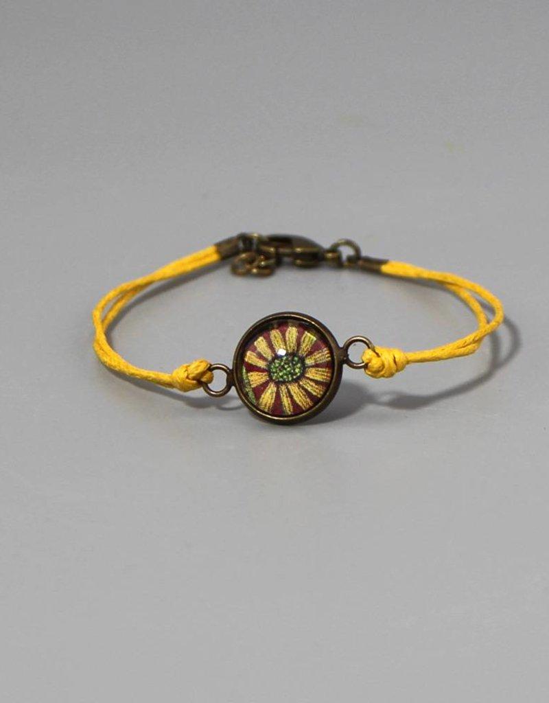 "Cotton bracelet ""Blume gelb"""