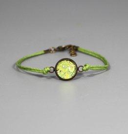 "Cotton bracelet ""Mehndi Muster hellgrün"""