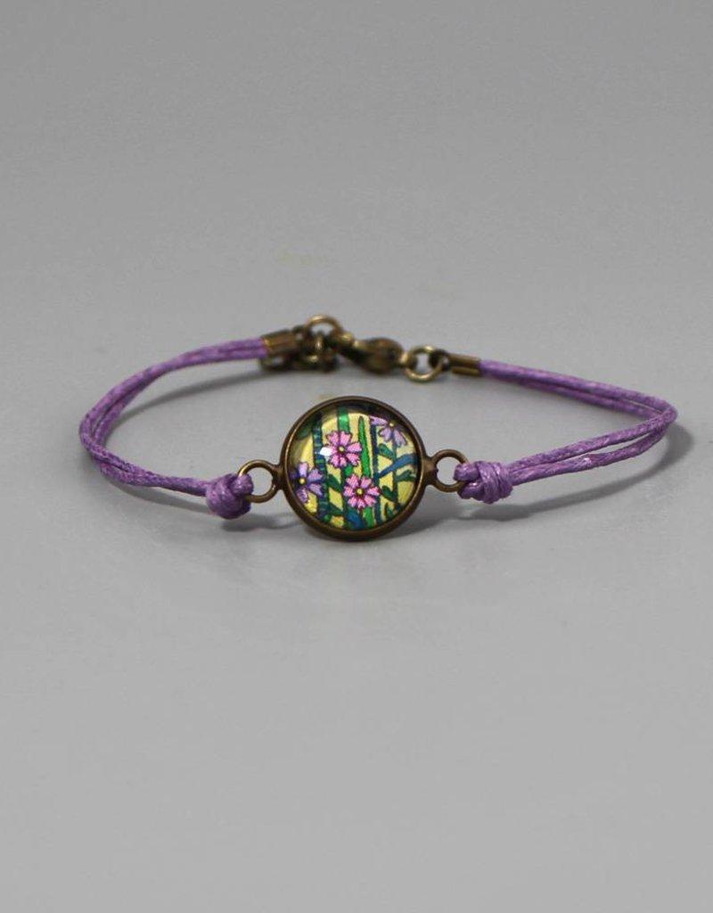 Armband aus Baumwolle - Blumenwiese