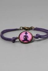 Armband aus Baumwolle - Buddha lila