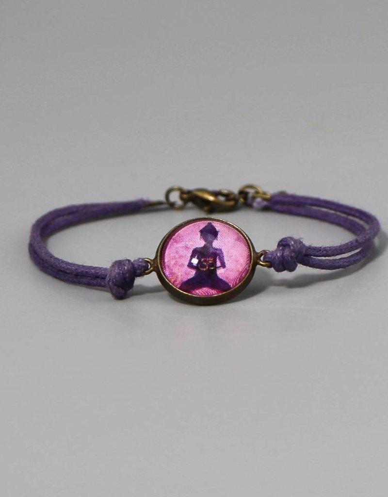 "Cotton bracelet ""Buddha lila"""