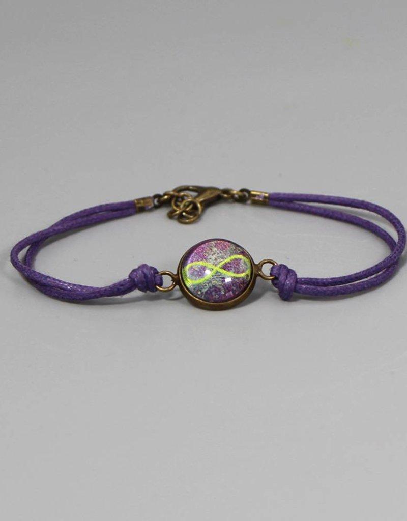 Armband aus Baumwolle - Infinity lila