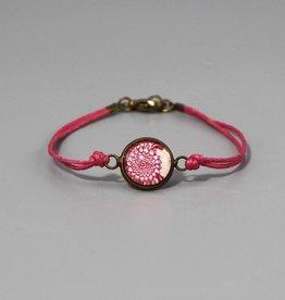 """Cotton bracelet """"Mehndi Muster magenta"""""""
