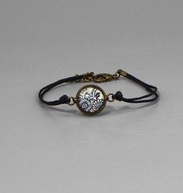 "Cotton bracelet ""Mehndi Muster schwarz"""