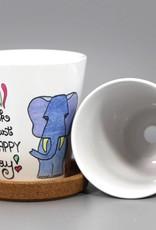 "Flower pot ""Happy today"""