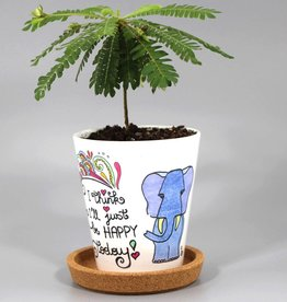 "Flower pot ""Happy today"""