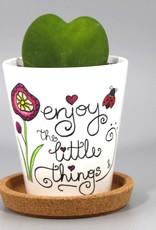 "Flower pot ""Enjoy the little things"""