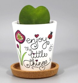 "Flower pot ""Enjoy the little things"""