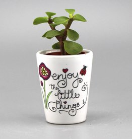 "Flower pot mini ""Enjoy the little things"""