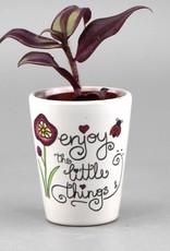 "Flower pot mini ""Enjoy the little things"""