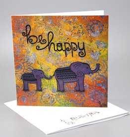 "Greeting card ""be happy"""