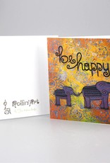 """Greeting card """"be happy"""""""
