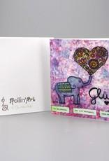 "Greeting card ""Glück"""